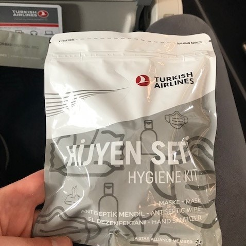 Sanitizing pack on the aircraft